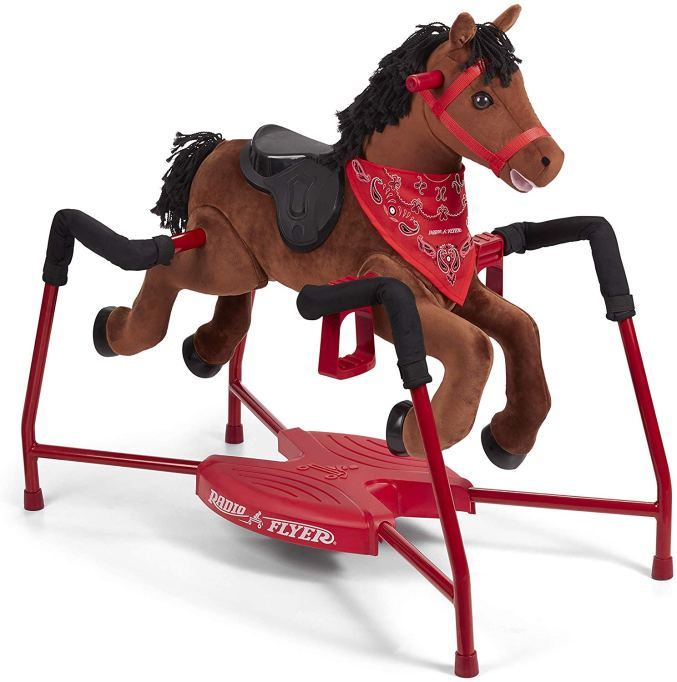 These Are The Absolute Hottest Gifts for Kids This Year: Radio Flyer Plush Interactive Riding Horse