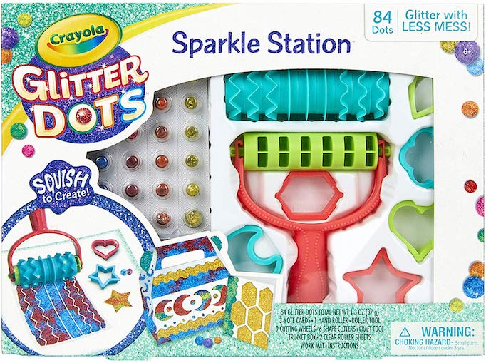 These Are The Absolute Hottest Gifts for Kids This Year: Crayola Glitter Dots Sparkle Station Craft Kit