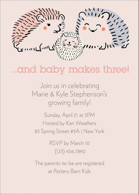 Baby Shower Invitations That Will Delight Every Guest: Hedgehogs