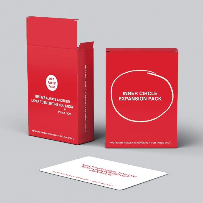 Celebrity Gift Guide: We're Not Really Strangers Inner Circle Expansion Pack by Red Table Talk