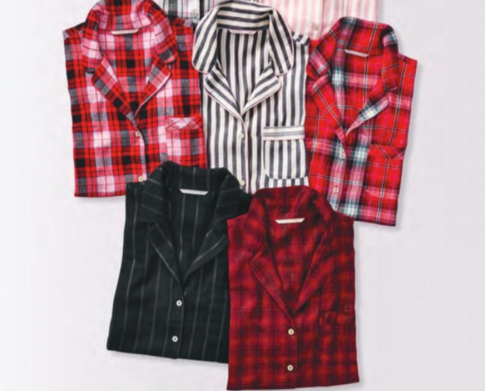 Celebrity Gift Guide: Flannel PJ Set by Victoria's Secret