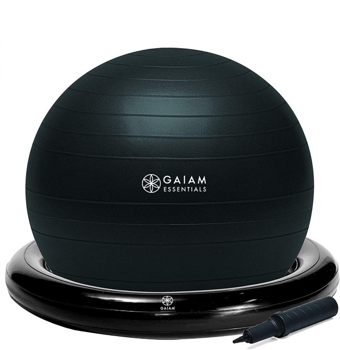 Celebrity Gift Guide: Gaiam Essentials Balance Ball & Base Kit