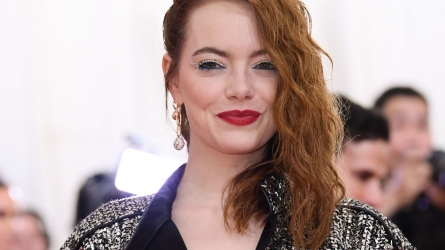 Emma Stone gets into character for