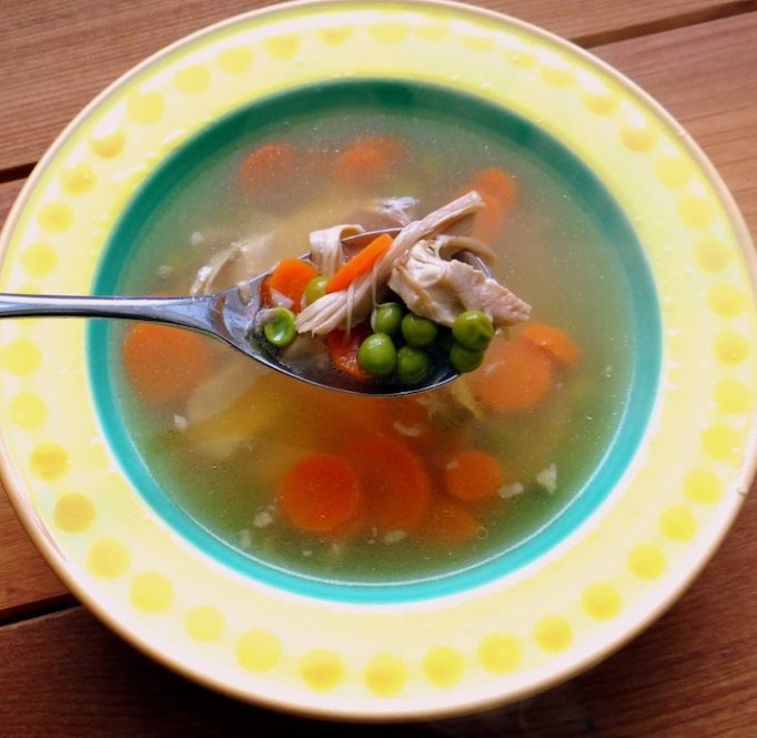 Nourishing chicken breakfast soup