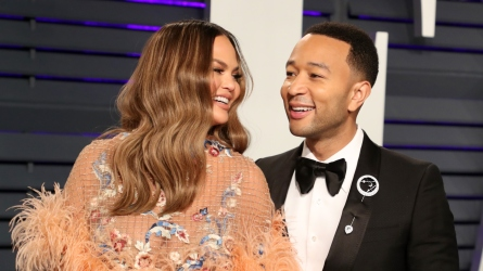 John Legend, Chrissy Teigen, and Luna