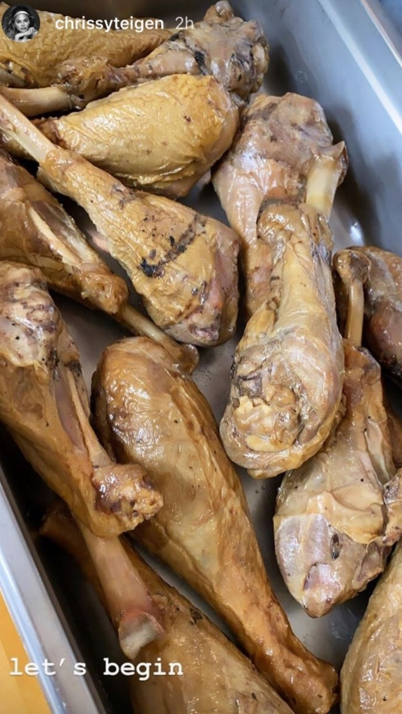 Chrissy Teigen Turkey Legs