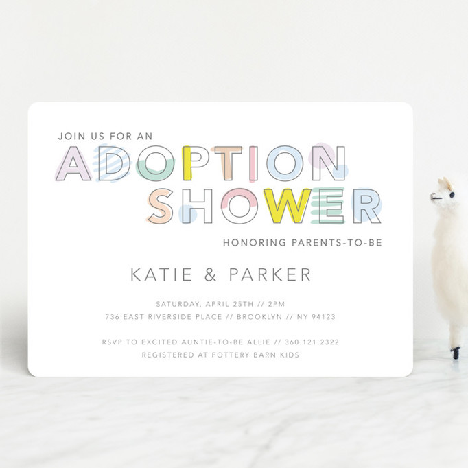 Baby Shower Invitations That Will Delight Every Guest: An Adoption Shower