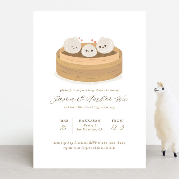 Baby Shower Invitations That Will Delight Every Guest: Dumpling