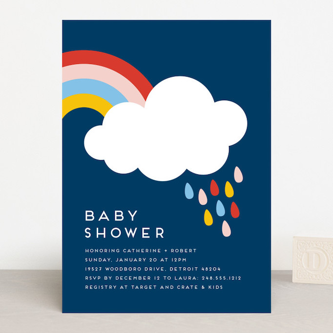 Baby Shower Invitations That Will Delight Every Guest: Rainbow Rain
