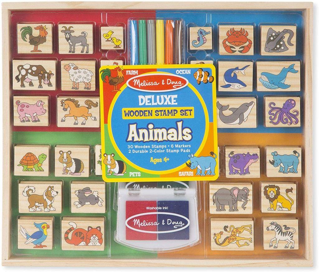 Melissa & Doug Deluxe Wooden Stamp Set