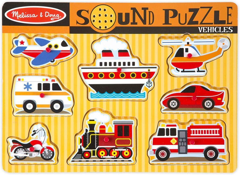 Melissa & Dough Vehicles Sound Puzzle