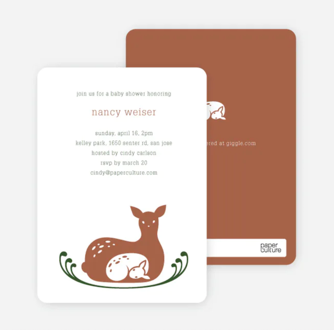 Baby Shower Invitations That Will Delight Every Guest: Deer Mom