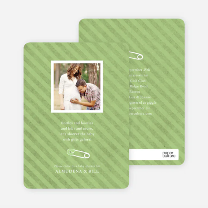 Baby Shower Invitations That Will Delight Every Guest: Baby Pin