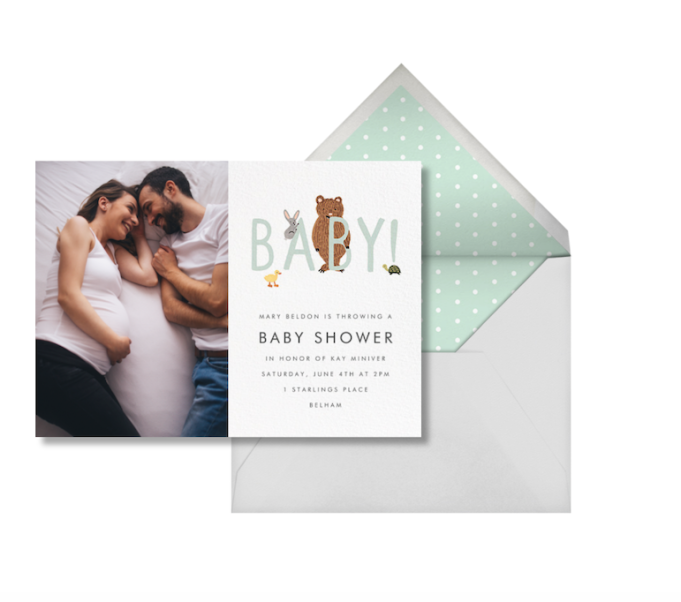 Baby Shower Invitations That Will Delight Every Guest: Bunny, Bear, & Baby