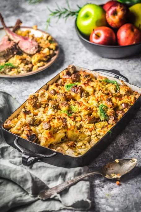 Apple, Fennel, and Sausage Stuffing