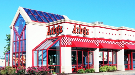 NASHVILLE, TN-JUNE, 2015: Arby's restaurant building.