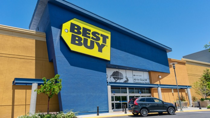 Best Buy store facade and exterior