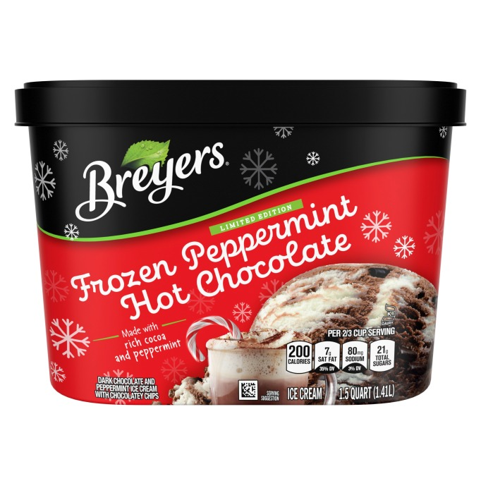 Breyers Limited Edition Ice Cream Frozen Peppermint Hot Chocolate