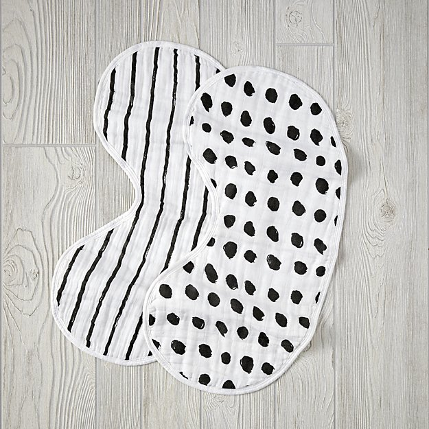 Trendy Bibs For Babies With Impeccable Style: Aden + Anais Freehand Burpy Bib Set