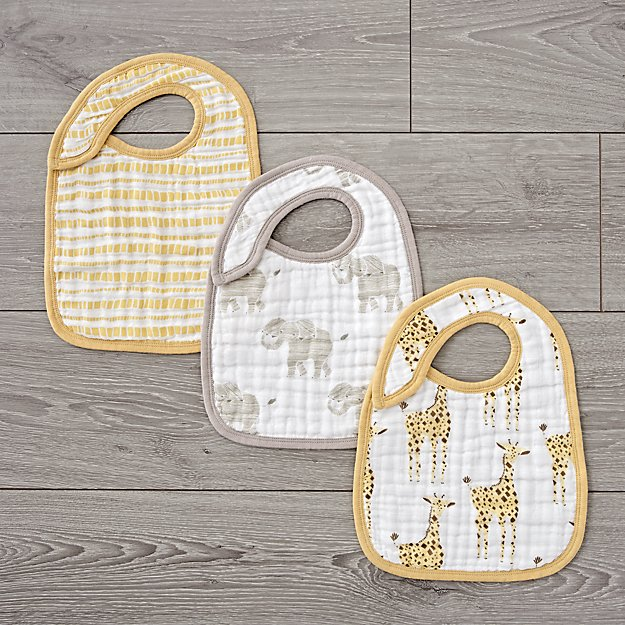 Trendy Bibs For Babies With Impeccable Style: Aden + anais Safari Snap Bibs