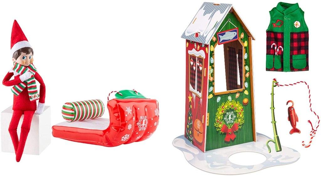 elf on the shelf sled