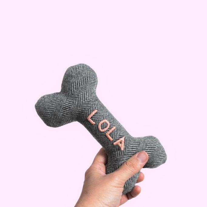 Embroidered dog toy