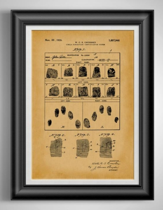 Fingerprint ID System Patent Print.