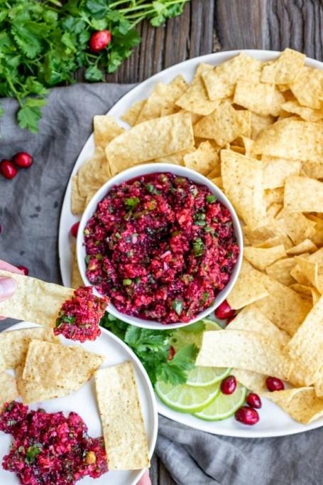 Fresh Cranberry Salsa.