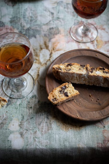 Hazelnut Biscotti with Fennel Seed and Chocolate
