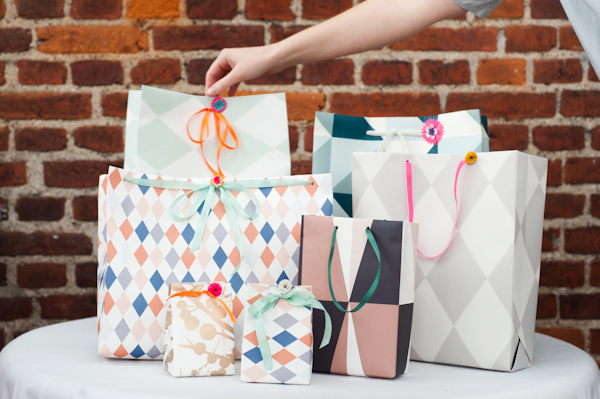 DIY Wallpaper Gift Bag
