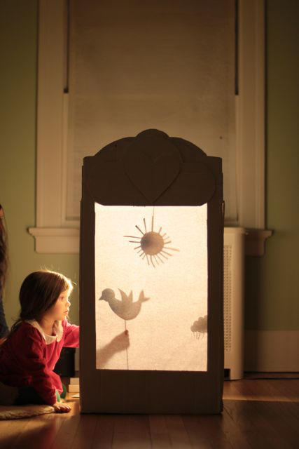 Cardboard Shadow Puppet Theater