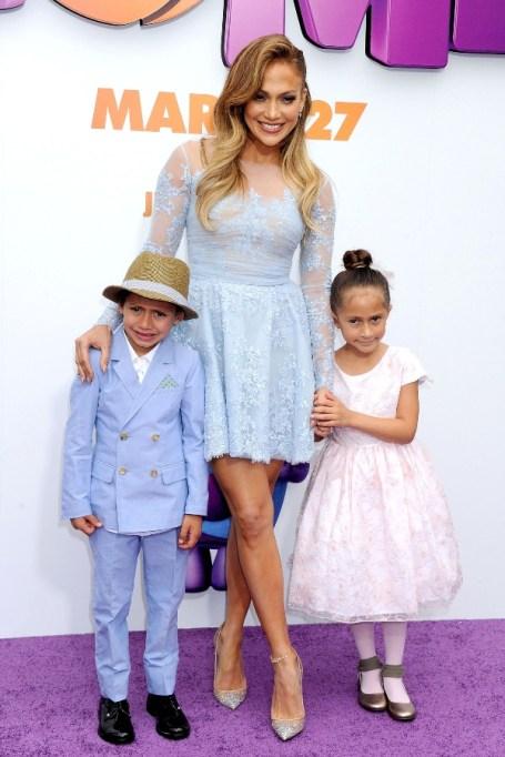 Jennifer Lopez & Max and Emme.
