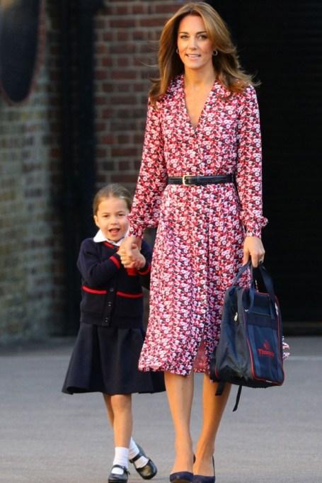 Kate Middleton and Princess Charlotte.