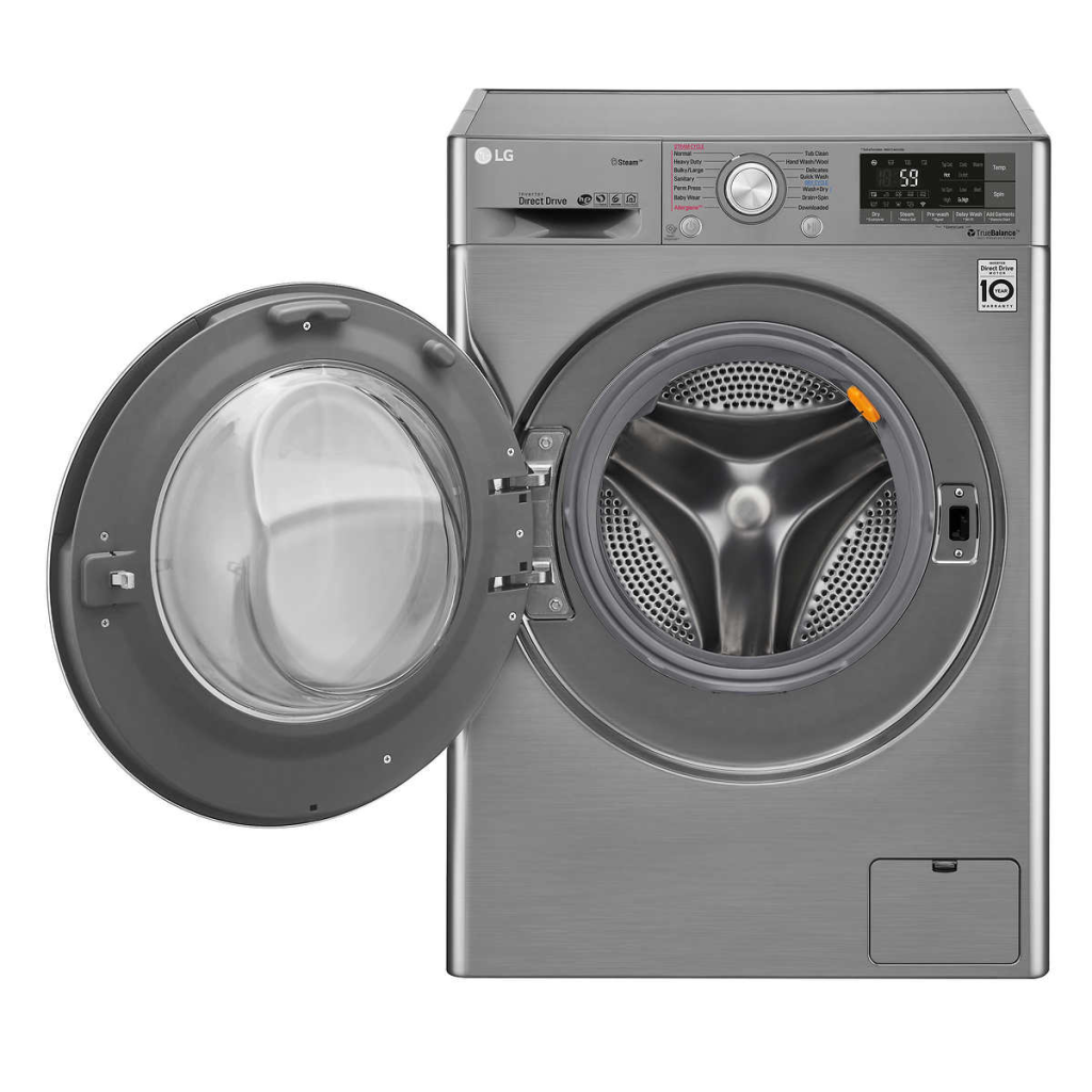LG All-in-One Wi-Fi Enabled 2.3 cu ft Washer and Electric Ventless Steam Dryer with Allergiene