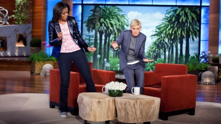 Michelle Obama & Ellen DeGeneres.