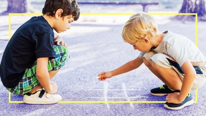 Two boys on playground