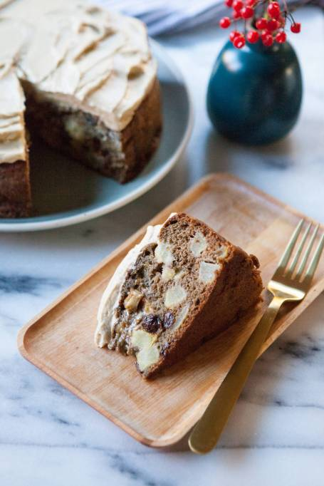 Olive Oil Apple Cake with Maple Frosting