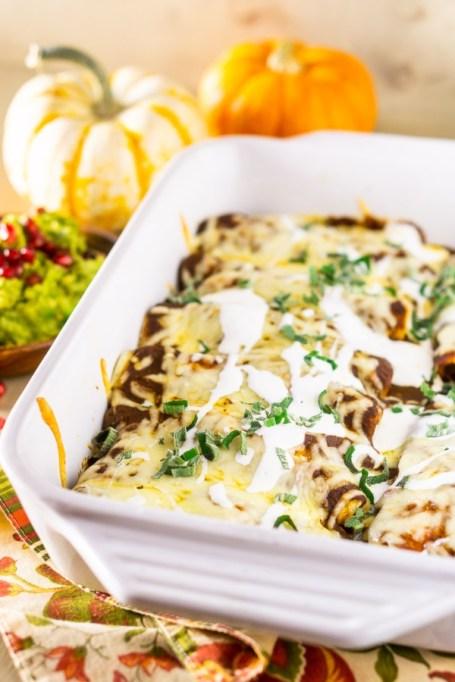 Turkey Enchiladas.
