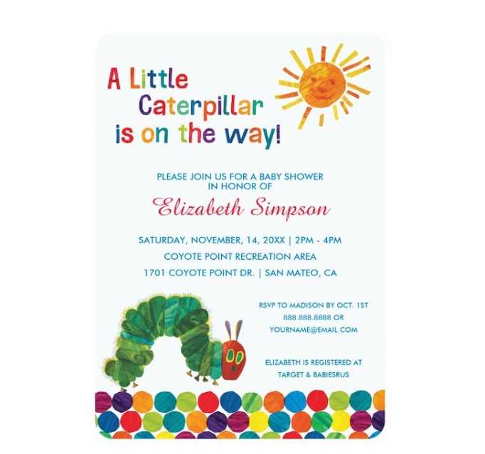 Baby Shower Invitations That Will Delight Every Guest: A Little Caterpillar