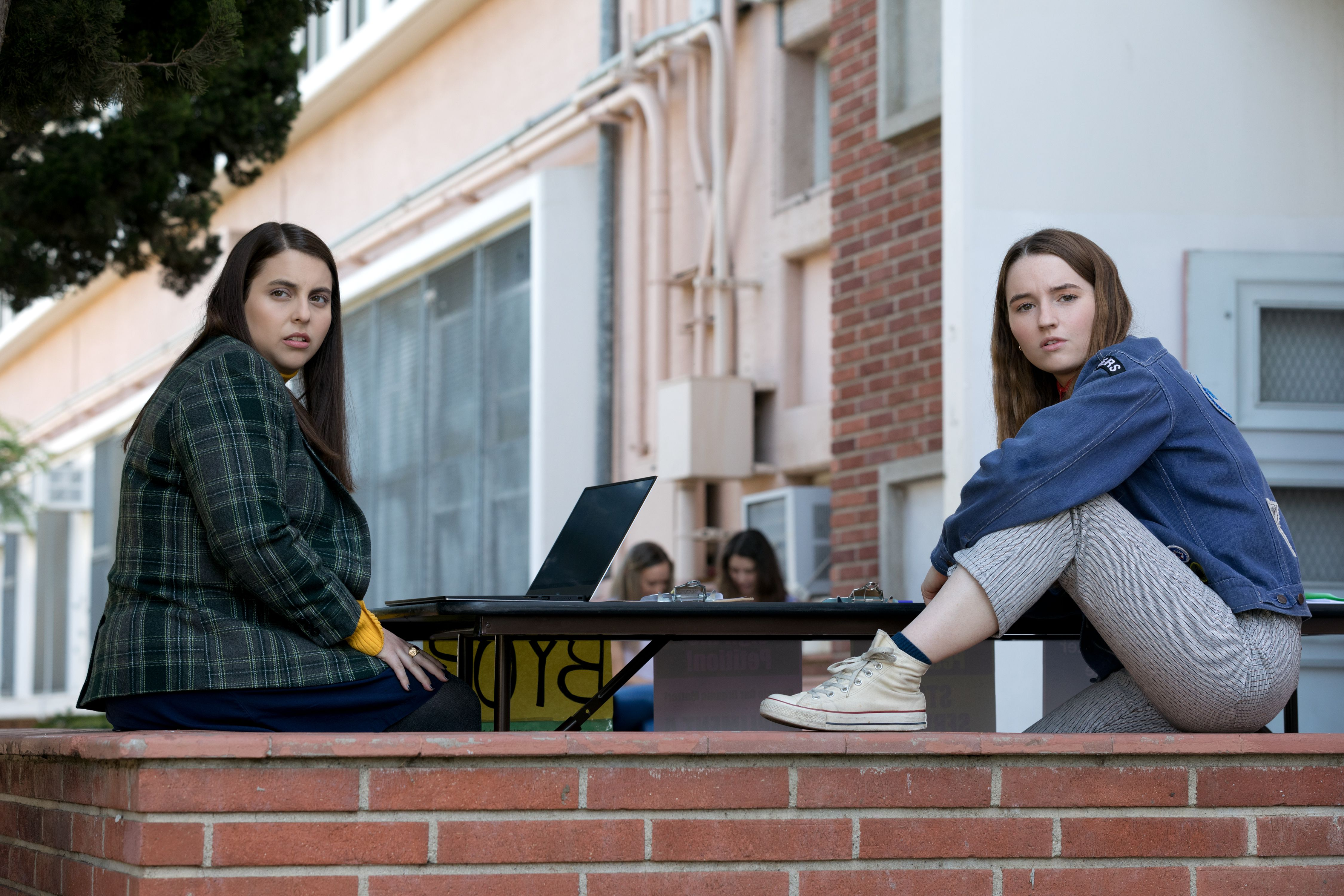 Editorial use only. No book cover usage.Mandatory Credit: Photo by F Duhamel/Annapurna/MGM/Kobal/Shutterstock (10238723u)Beanie Feldstein as Molly and Kaitlyn Dever as Amy'Booksmart' Film - 2019On the eve of their high school graduation, two academic superstars and best friends realize they should have worked less and played more. Determined not to fall short of their peers, the girls try to cram four years of fun into one night.