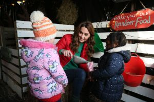 Catherine Duchess of Cambridge hands out reindeer food to children during a visit to Peterley Manor Farm in Buckinghamshire, as she takes part in Christmas activities with families and children who are supported by the Family Action charityCatherine Duchess of Cambridge marks new patronage of Family Action, Peterley Manor Farm, Great Missenden, Buckinghamshire, UK - 04 Dec 2019