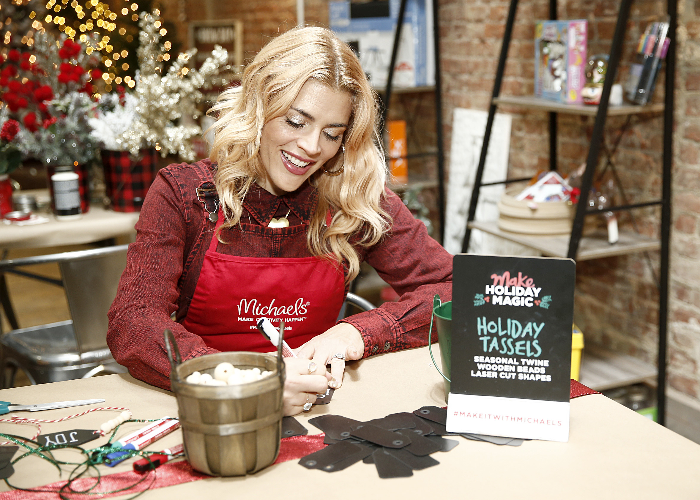NEW YORK, NEW YORK - NOVEMBER 12: Michaels and Busy Philipps host Holiday Crafternoon on November 12, 2019 in New York City.