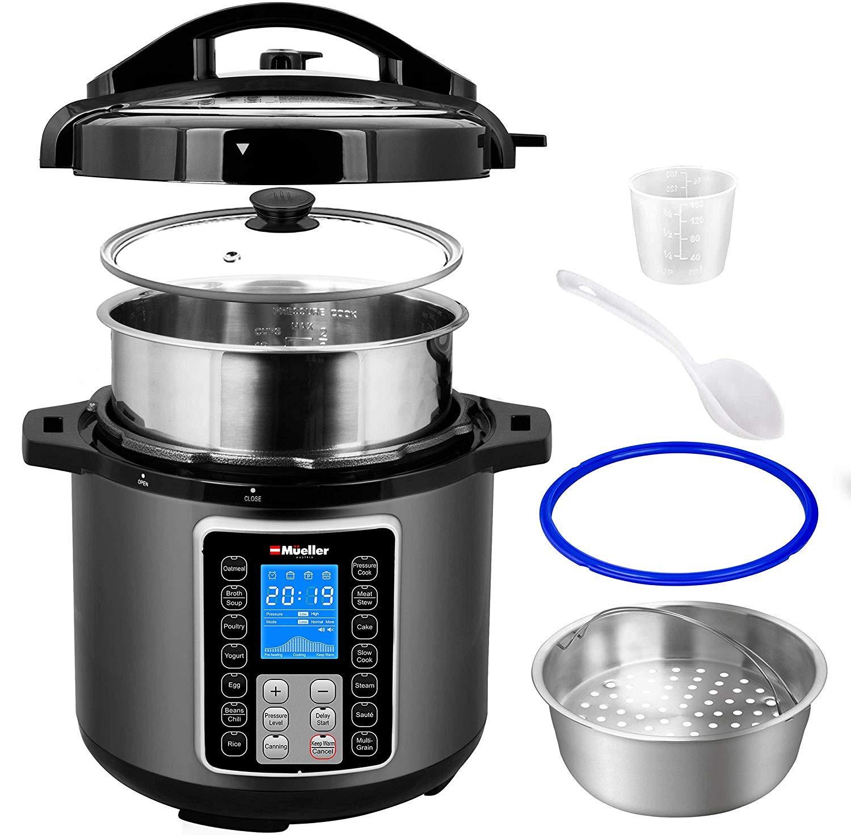 Mueller UltraPot 6Q Pressure Cooker Instant Crock 10 in 1 Pot