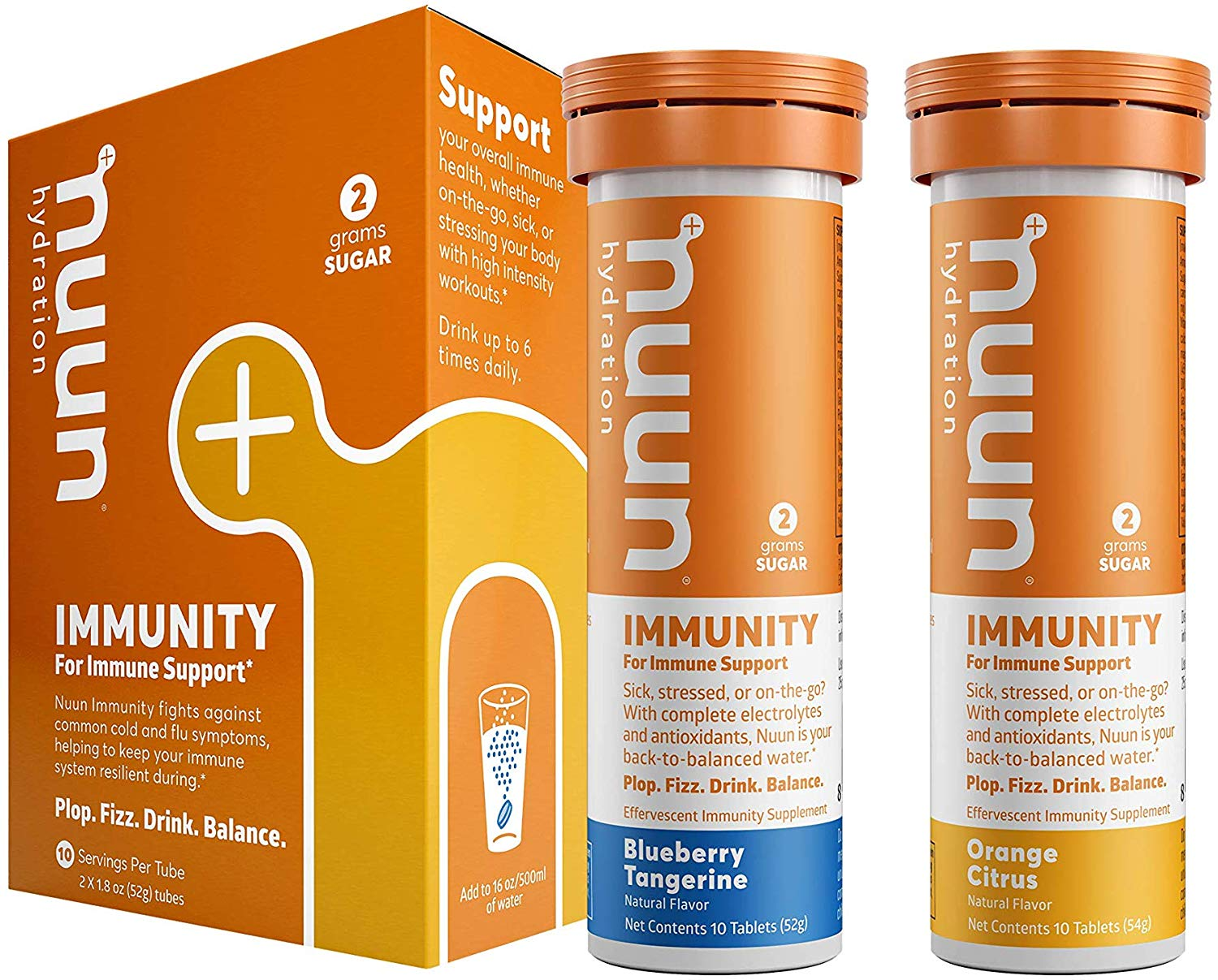 Nuun Immunity: Antioxidant Immune Support Hydration Supplement with Vitamin C, Zinc, Turmeric, Elderberry, Ginger, Echinacea, and Electrolytes