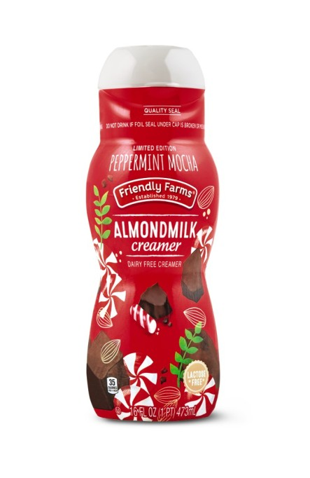 Friendly Farms peppermint mocha almond milk creamer