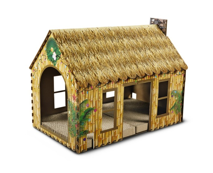 Heart to Tail Holiday Cat Scratching Playhouse