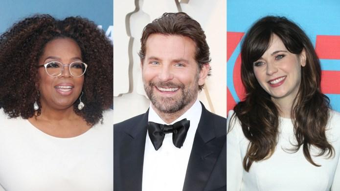 Bradley Cooper, Zooey Deschanel, Oprah Winfrey,