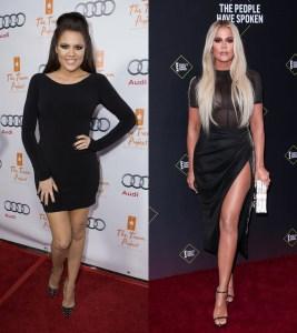 Khloé Kardashian transformation.