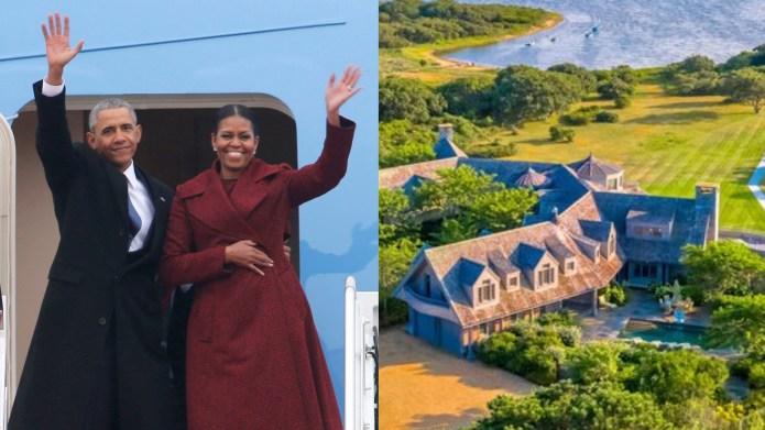 Barack and Michelle Obama buy Martha's