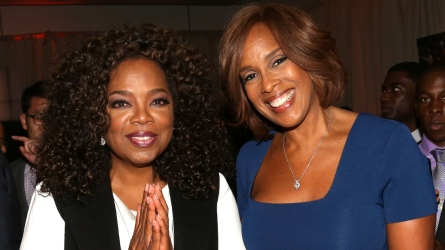 Oprah Winfrey and Gayle King give